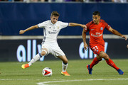 Aleix Febas #36 of Real Madrid C.F. and Hatem Ben Arfa #21 of Paris Saint-Germain F.C battle for control of the ball during the second half on July 27, 2016 at Ohio Stadium in Columbus, Ohio. Paris Saint-Germain F.C. defeated Real Madrid C.F. 3-1.