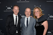 (L to R) Actor/writer Morgan Spurlock, executive Producer Michael Lumpkin and producer Geralyn Dreyfous attend the International Documentary Association's 2013 IDA Documentary Awards at Directors Guild Of America on December 6, 2013 in Los Angeles, California.
