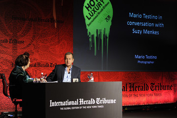 Mario Testino Suzy Menkes International Herald Tribune's Luxury Business Conference - Sao Paulo 2011 - Day 1