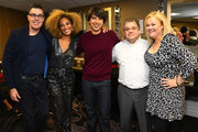(L-R) Adam Carolla, Amanda Seales, Demetri Martin, Patton Oswalt and Caroline Rhea attend the International Myeloma Foundation 13th Annual Comedy Celebration at The Beverly Hilton Hotel on October 17, 2019 in Beverly Hills, California.