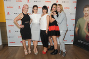 (L-R) Marti Noxon, Shiri Appleby, Constance Zimmer, Sarah Gertrude Shapiro and Nina Lederman attend the international press event for UnREAL on April 29, 2015 in New York City.