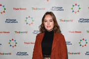 Tanya Burr attends Sarah Brown's Theirworld charity event held in London's Connaught Rooms, ahead of International Women's Day, March 1, 2018 in London, England.