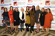 (L-R) Stephanie Ruhle, Norah O'Donnell, Cynthia McFadden, Lesley Stahl, Christy Turlington Burns, Nima Elbagir, Andrea B. Smith, Meridith Kohut and Rosario Mosso Castro attend the International Women's Media Foundation's 2018 Courage in Journalism Awards at Cipriani 42nd Street on October 25, 2018 in New York City.