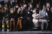 Takashi Murakami, Anja Rubik, Holli Rogers, Edward Enninful OBE, Sinead Burke and Hamish Bowles attend the International Woolmark prize 2020 during London Fashion Week February 2020 at Ambika P3 on February 17, 2020 in London, England.