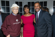 (L-R) Norman Lear, Carol Espy-Wilson and Morehouse College President Dr. John Silvanus Wilson, Jr. attend an intimate gathering in honor of Norman Lear at Morehouse College on November 30, 2015 in Atlanta, Georgia.