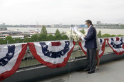 In this screengrab, Governor of New York Andrew Cuomo speaks at the Intrepid Sea, Air & Space Museum's virtual Memorial Day commemoration ceremony on May 25, 2020 in New York City.
