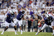Shawn Robinson #3 of the TCU Horned Frogs passes the ball against the Iowa State Cyclones at Amon G. Carter Stadium on September 29, 2018 in Fort Worth, Texas.