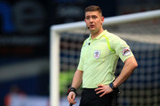 Referee Robert Jones during the Sky Bet Championship match between Ipswich Town and Leeds United at Portman Road on January 13, 2018 in Ipswich, England.