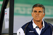 (SOUTH AFRICA OUT) Head coach Carlos Quieroz of Iran during the FIFA 2014 World Cup qualifier match between Iran and Korea Republic at Azadi Stadium on October 16, 2012 in Tehran, Iran