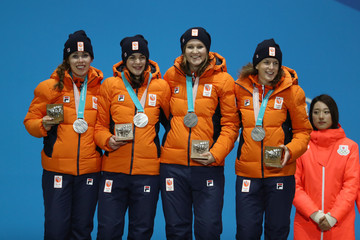 Ireen Wust Medal Ceremony - Winter Olympics Day 13