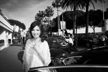 Iris Berben L'Oreal at the 70th Cannes Film Festival B&W - #Canniversary