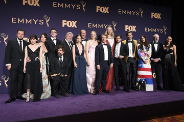 Isaac Hempstead Wright Conleth Hill 71st Emmy Awards - Press Room