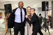 (L-R) DJ Stormin Norman, and artists Isabel Toledo and Ruben Toledo attend the Isabel And Ruben Toledo PA At Lane Bryant Flagship Store on September 30, 2015 in New York City.