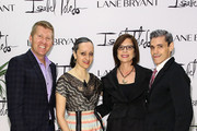 (L-R) EVP, Chief Marketing Officer at Lane Bryant, Inc. Brian Beitler, artists Isabel Toledo, CEO at Lane Bryant Linda Heasley and artist Ruben Toledo attend the Isabel And Ruben Toledo PA At Lane Bryant Flagship Store on September 30, 2015 in New York City.
