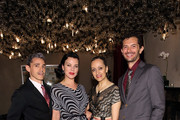(L-R) Ruben Toledo, Debi Mazar, Isabel Toledo and Gabriele Corcos attend the dinner following the Isabel And Ruben Toledo PA At Lane Bryant Flagship Store on September 30, 2015 in New York City.