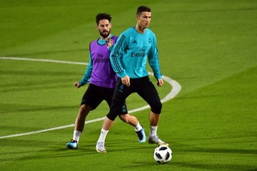 Isco Real Madrid Training in Abu Dhabi Before Their FIFA Club World Cup Semi-Final