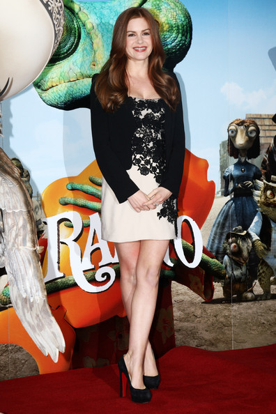 Isla Fisher (UK TABLOID NEWSPAPERS OUT) Isla Fisher poses at a photocall to promote the release of Rango on Friday March 4th 2011 held at Claridges Hotel on February 22, 2011 in London, England.