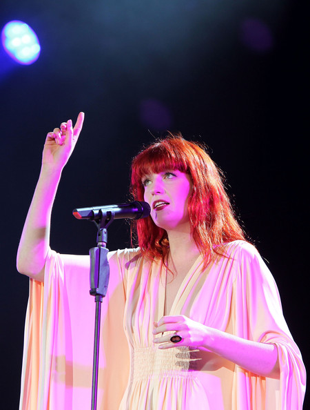 Florence Welch of Florence and The Machine performs on the main stage during day one of the Isle of Wight Festival 2010 at Seaclose Park on June 11, 2010 in Newport, Isle of Wight. The festival, now in it's ninth year after being reincarnated in 2002 is attended by 50,000 music fans, which features headline acts Jay Z, The Strokes and Sir Paul McCartney.