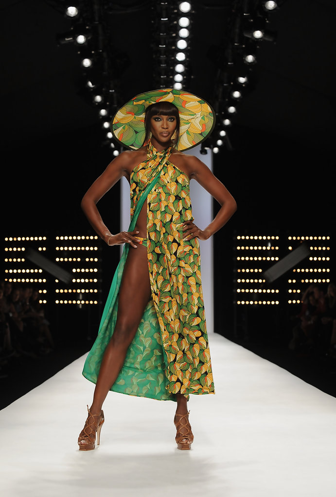 Naomi Campbell In Issa London Runway Spring Summer 2010