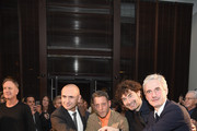 Chris King, Lapo Elkann, Alessandro Cicogiani, and Andrea Tessitore, CEO of Italia Independent, attend the Italia Independent X Ducati Celebration of The Launch Of The Scrambler Ducati at The Setai Miami Beach on December 5, 2015 in Miami Beach, Florida.