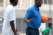 Clarence Seedorf attends a football clinic for integration organized by Italian Football Federation on June 22, 2017 in Milan, Italy.