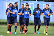 Players of Italy during a training session on June 16, 2014 in Rio de Janeiro, Brazil.