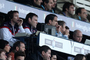 (L-R) England management team of Mike Ford, John Wells, Martin Johnson and Brian Smith look on during the RBS Six Nations match between Italy and England at Stadio Flaminio on February 14, 2010 in Rome, Italy.