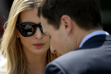 Ivanka Trump Jared Kushner First Lady Melania Trump Speaks On The Launch Of Her Initiatives In The Rose Garden Of White House