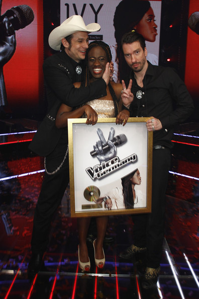 The Voice Of Germany - Winner Photocall [the voice of germany,photocall,event,games,ivy quainoo,c,sascha,alec boss burns voelkel,r,hoss powers vollmer,winner,band]