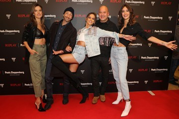 Izabel Goulart Joan Smalls Capsule Collection Neymar Jr. X Replay At Weltstadthaus Duesseldorf