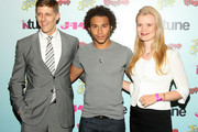 J-14 publisher Ryan McConville, singer/actor Corbin Bleu, and J-14 editor in chief Molly MacDermot attend J-14 Magazine's In-Tune Concert at Hard Rock Cafe - Times Square on July 20, 2009 in New York City.