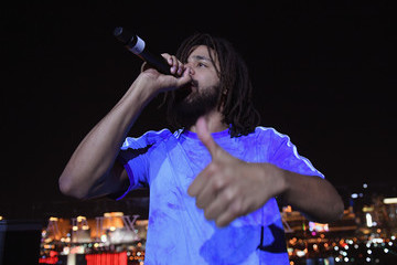J. Cole J.Cole Surprise Performance At Apex Social Club At Palms Casino Resort