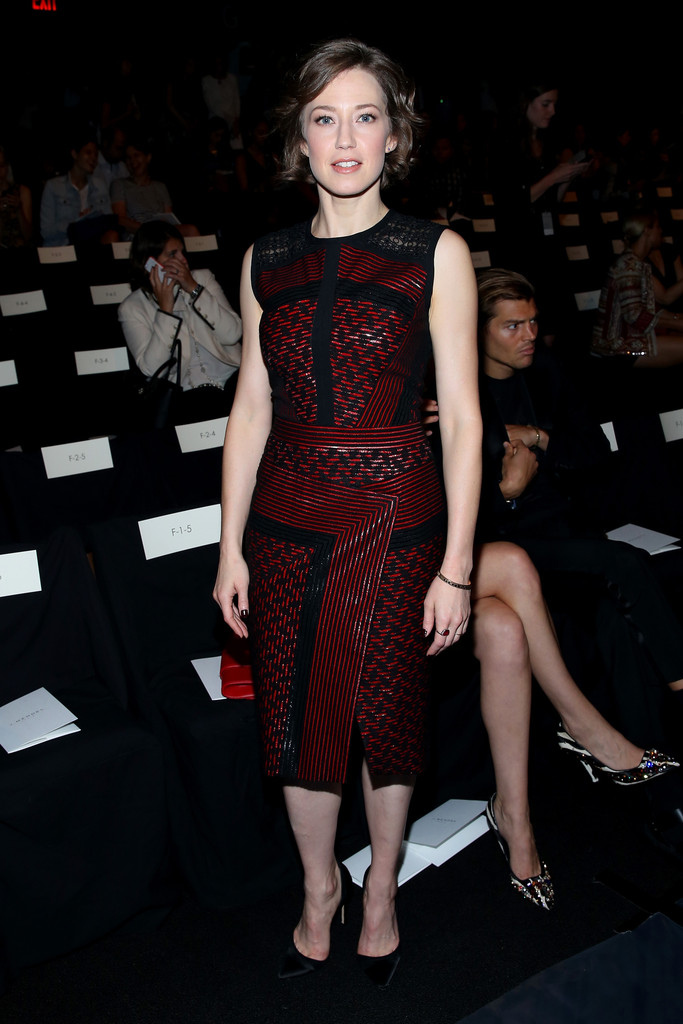 Carrie coon photos photos j mendel front row for Mercede benz fashion week
