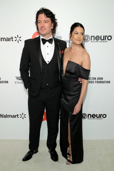 28th Annual Elton John AIDS Foundation Academy Awards Viewing Party Sponsored By IMDb, Neuro Drinks And Walmart - Arrivals [suit,clothing,formal wear,tuxedo,fashion,dress,event,carpet,premiere,tie,neuro drinks,arrivals,elton john aids foundation academy awards viewing party,jennifer huyoung,jc chasez,l-r,west hollywood,california,walmart,imdb,jc chasez,celebrity,elton john aids foundation,oscar party,nsync,elton john aids foundation academy award party,pop music,oscar viewing party,academy awards,boy band]