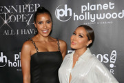 "Actress Julissa Bermudez (L) and television personality Adrienne Bailon attend the after party for the finale of the ""JENNIFER LOPEZ: ALL I HAVE"" residency at MR CHOW at Caesars Palace on September 30, 2018 in Las Vegas, Nevada."