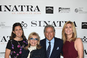 "Amanda Lambert, Nancy Sinatra, Tony Bennett and Susan Bennett attend Jack Daniel's Sinatra Select celebration of the Grammy Museum's ""Sinatra: An American Icon"" at The New York Public Library of Performing Arts on March 3, 2015 in New York City."