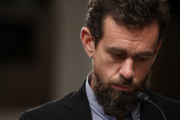 Jack Dorsey Twitter CEO Jack Dorsey And Facebook COO Sheryl Sandberg Testify To Senate Committee On Foreign Influence Operations