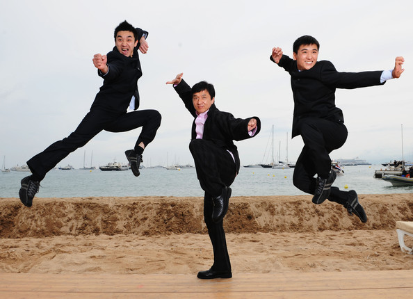 Best of Cannes 2008 [jumping,fun,happy,dancer,kung fu,sports,tourism,jackie chan,actors,liu fengchao,wang wenjie,best,cannes 2008,l-r,wushu,la dive beach,photocall]