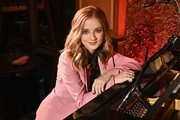 Singer Jackie Evancho poses for photos before her performance at 54 Below on April 23, 2019 in New York City.