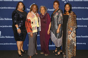 (L-R) Susan Thomas, Sharon Robinson, Rachel Robinson, Meta Robinson, and Sonya Pankey attend the Jackie Robinson Foundation 2018 Annual Awards Dinner at the Marriott Marquis Times Square on March 5, 2018 in New York City.