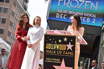 Jackie Tohn Double Walk of Fame Ceremony For Kristen Bell And Idina Menzel