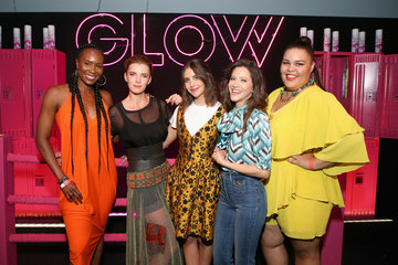 Jackie Tohn Britney Young FYC 'GLOW' Skate Party