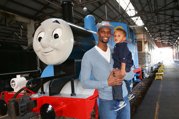 Jackson Bosh Day Out With Thomas: The Thrill Of The Ride Tour 2014 Kicks Off At The Gold Coast Railroad Museum With Miami HEAT Forward Chris Bosh
