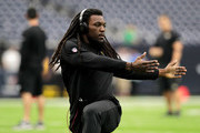 Chris Ivory #33 of the Jacksonville Jaguars warms up before the game against the Houston Texans at NRG Stadium on September 10, 2017 in Houston, Texas.