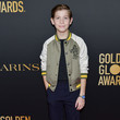 Jacob Tremblay HFPA And THR Golden Globe Ambassador Party - Press Conference And Arrivals