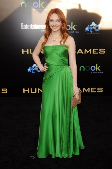 "Jacqueline Emerson Actress Jacqueline Emerson arrives at the premiere of Lionsgate's ""The Hunger Games"" at Nokia Theatre L.A. Live on March 12, 2012 in Los Angeles, California."