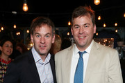 """Mike Birbiglia and Joe Birbiglia attend the opening night after party for """"Jacqueline Novak: Get on Your Knees"""" at  A.O.C. L aile ou la Cuisse on July 22, 2019 in New York City."""