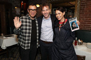 """Fred Armisen, Mike Birbiglia and Jen Stein attend the opening night after party for """"Jacqueline Novak: Get on Your Knees"""" at  A.O.C. L aile ou la Cuisse on July 22, 2019 in New York City."""