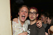 """John Early and Jack Antonoff attend the opening night after party for """"Jacqueline Novak: Get on Your Knees"""" at  A.O.C. L aile ou la Cuisse on July 22, 2019 in New York City."""