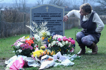 Jackiey Budden Jade Goody's Family Unveil Headstone On The First Anniversary Of her Death